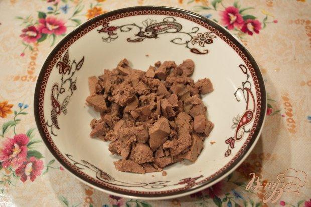 Рецепт Салат с куриной печенью и огурцом