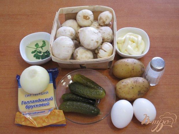 Рецепт Салат с жаренными грибами