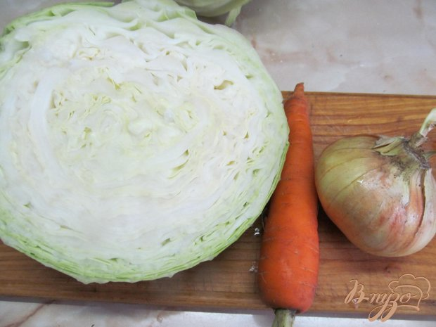 Рецепт Тушенная капуста с фасолью