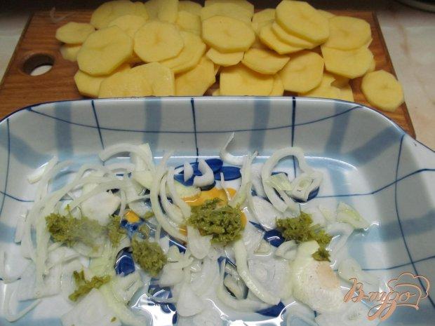 Рецепт Запеченный картофель с беконом и баклажаном