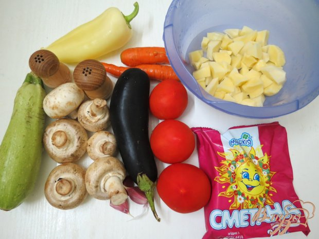 Рецепт Рагу овощное с грибами