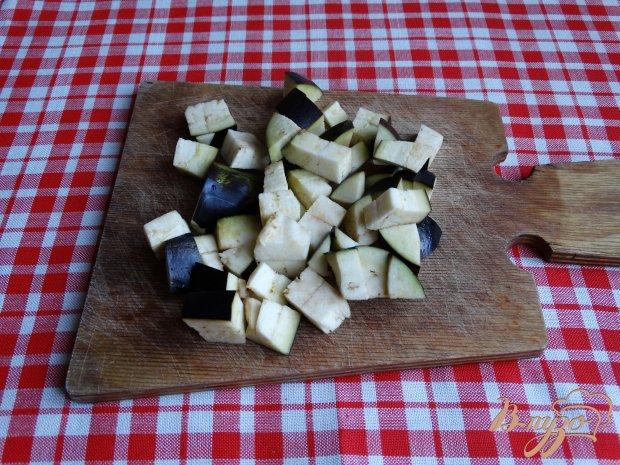 Рецепт Теплый овощной салат с баклажанами и мятой