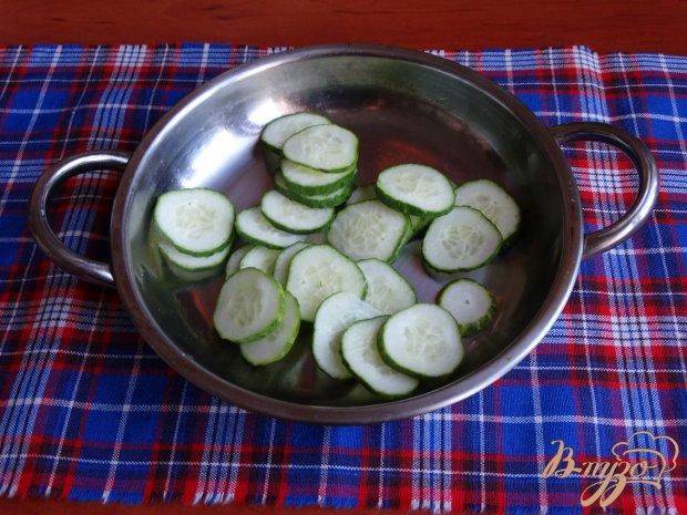 Рецепт Салат с жареными кабачками овощами и сыром