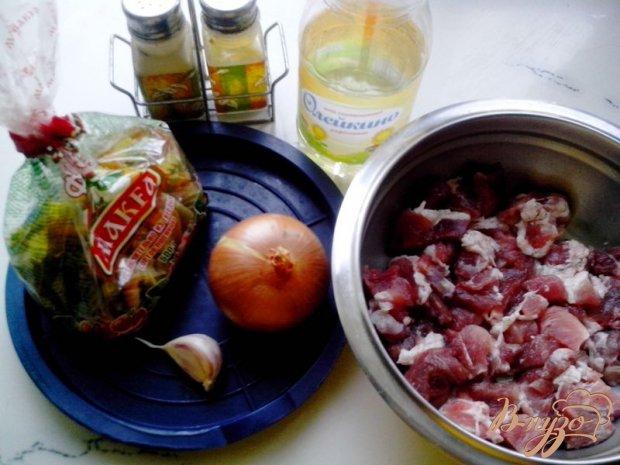 Рецепт Свинина с макаронами в мультиварке-скороварке