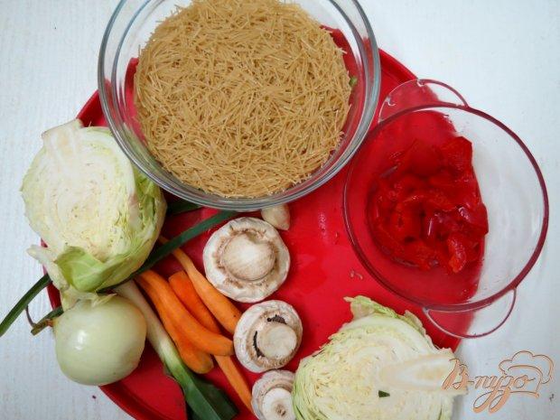 Рецепт Вермишель с овощами