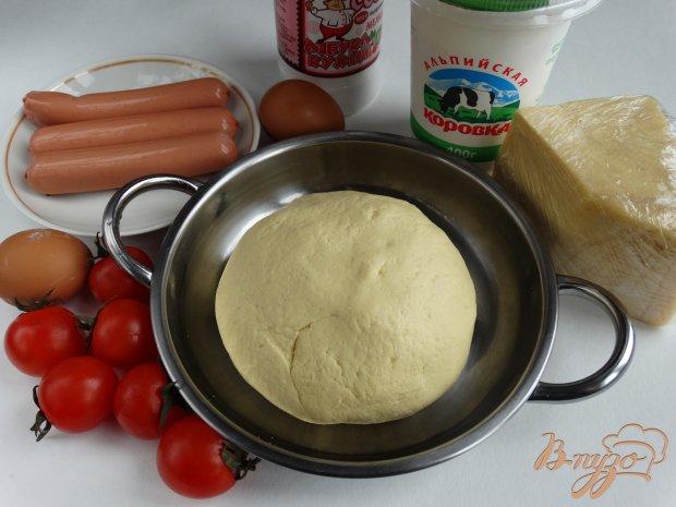 Рецепт Тарт с помидорами черри и сосисками