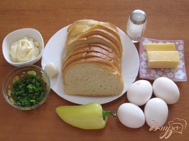 Рецепт Тосты с яйцами, сыром и сладким перцем