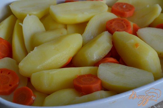 Рецепт Картофельная запеканка с морковью и ветчиной