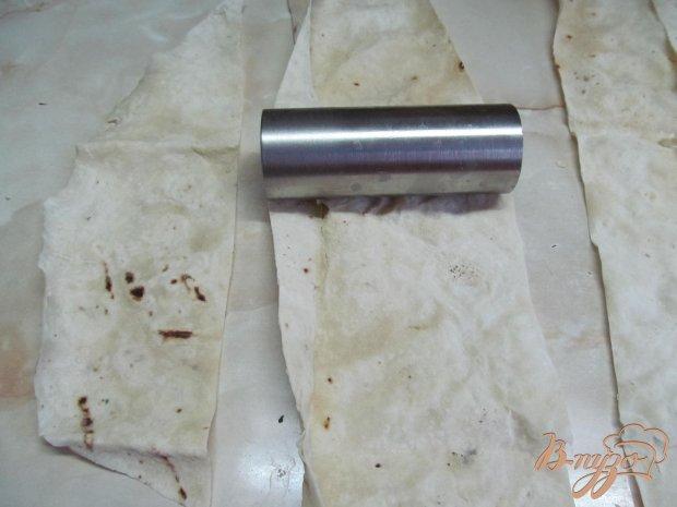 Рецепт Трубочки из лаваша с творожной начинкой