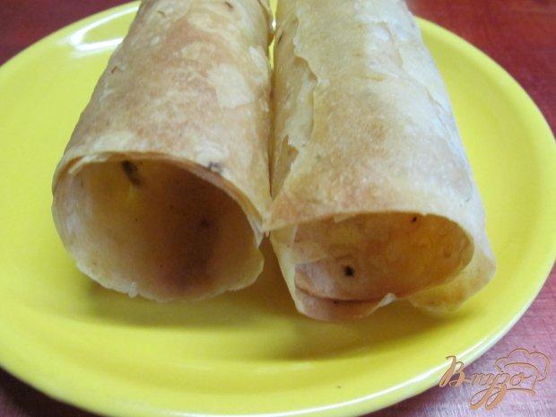 Рецепт Трубочки из лаваша с салатовой начинкой
