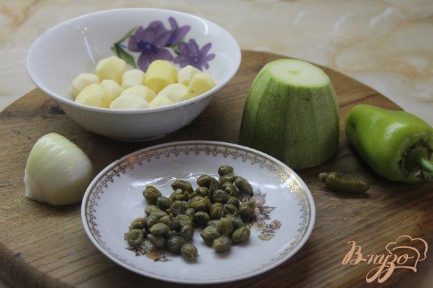 Рецепт Молодой картофель с кабачками и болгарским перцем