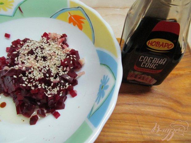 Рецепт Салат из свеклы и крабовых палочек