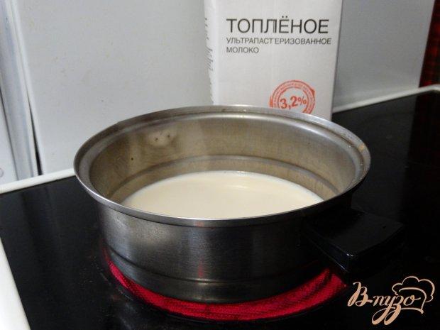 Рецепт Овсянка на топленом молоке с черникой и орехами