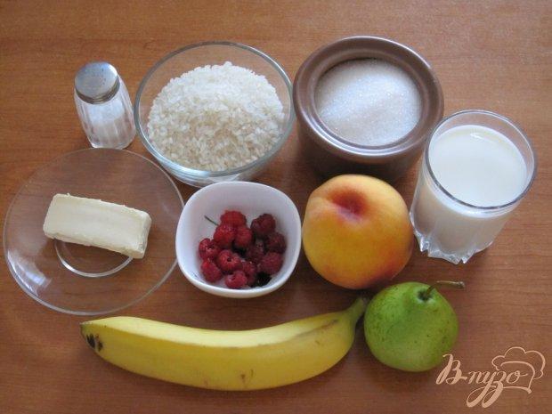 Рецепт Молочная рисовая каша с фруктами