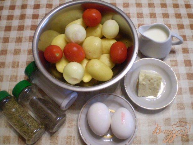 Рецепт Картофельная запеканка с сыром и помидорами