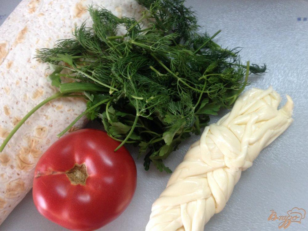 Рецепт Лаваш, запеченный с сыром сулугуни