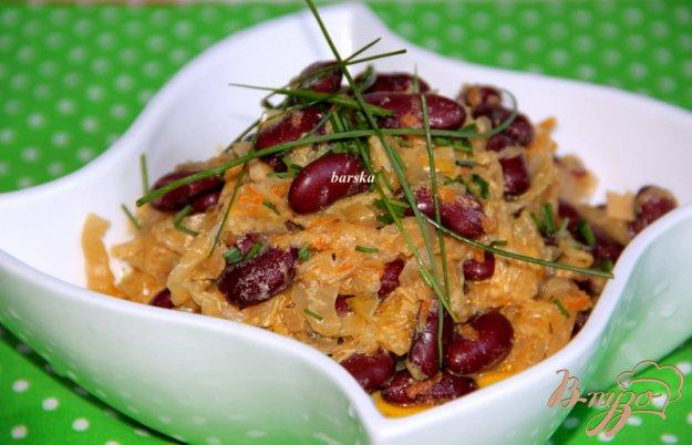 фото рецепта: Тушеная капуста с фасолью