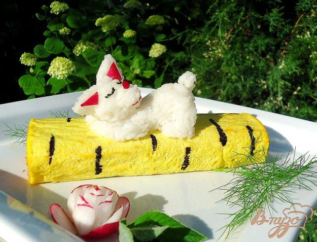 фото рецепта: Японский завтрак - омлет с рисом