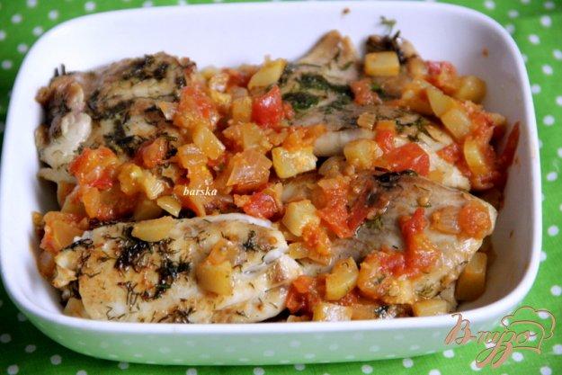 фото рецепта: Рыбка с томатно-кабачковой сальсой