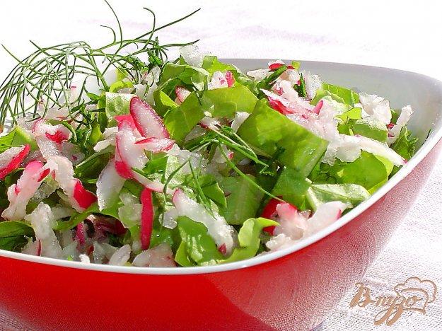 Рецепт салатов с листьями салата пошагово