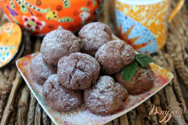 фото рецепта: Шоколадные коржики с имбирем