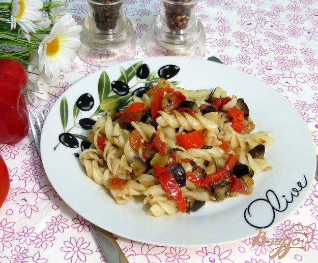 фото рецепта: Паста Fusilli c баклажанами