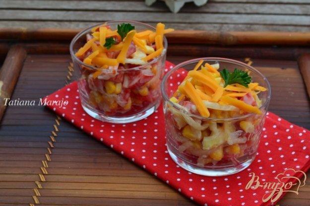фото рецепта: Овощной салат с сыром