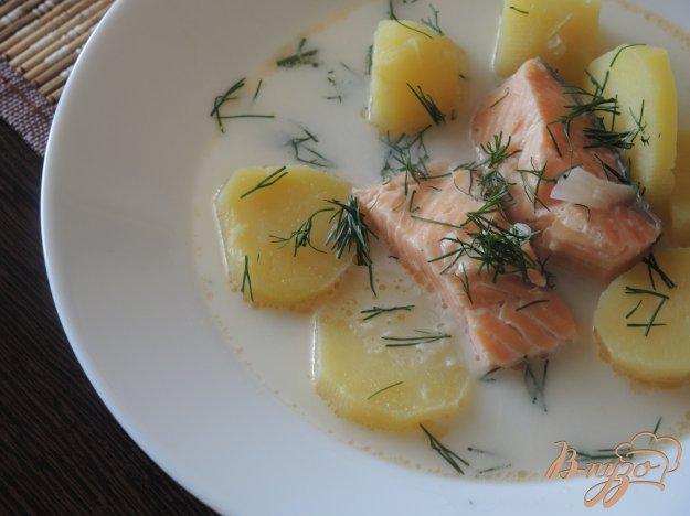 фото рецепта: Уха по-фински со сливками