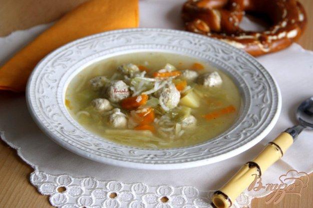 фото рецепта: Овощной суп с куриными  фрикадельками