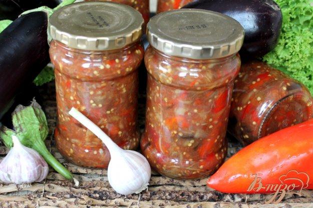 фото рецепта: Печеные баклажаны с перцем в томате