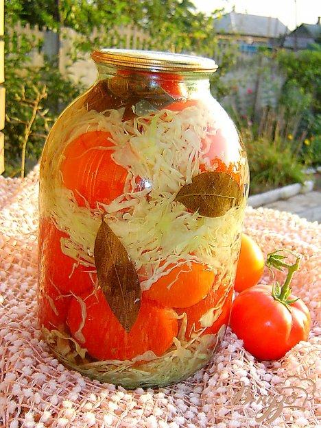 помидоры в капусте заготовка на зиму