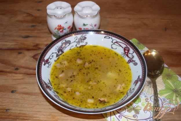 фото рецепта: Суп гороховый с салом