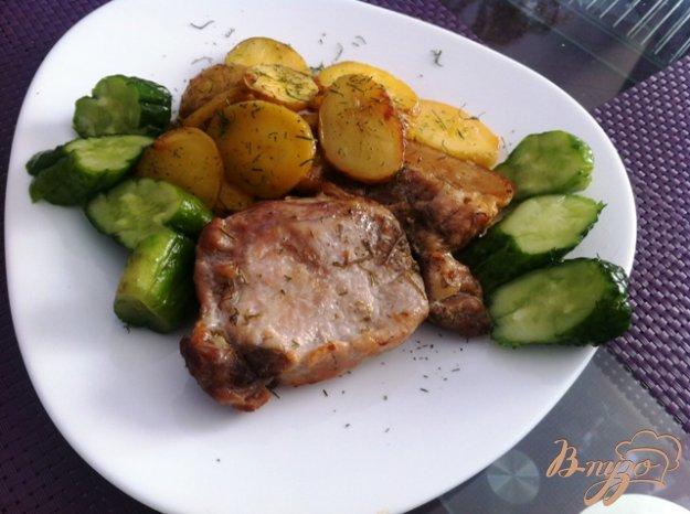 фото рецепта: Эскалоп запеченный с картофелем
