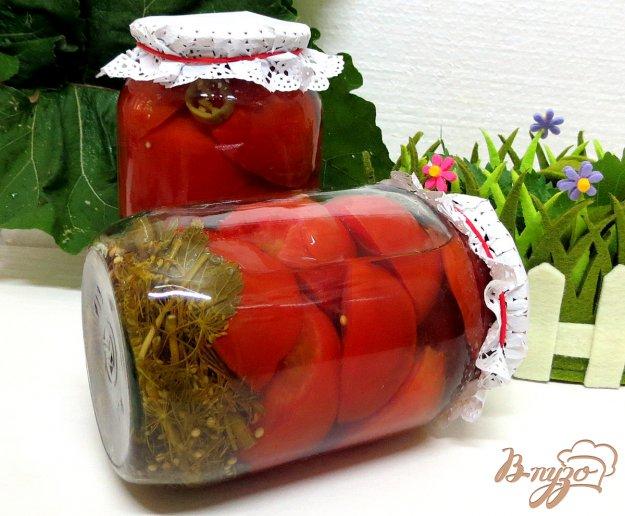 фото рецепта: Помидоры маринованные на вишнёвом отваре