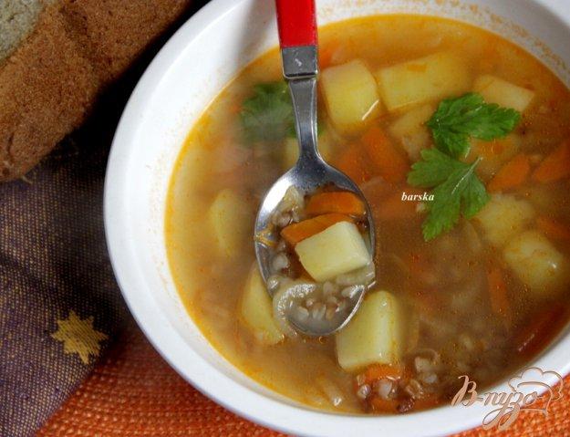 фото рецепта: Простой суп с гречкой