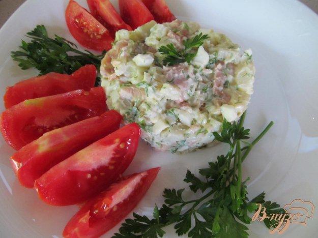 фото рецепта: Салат из картофеля с горбушей