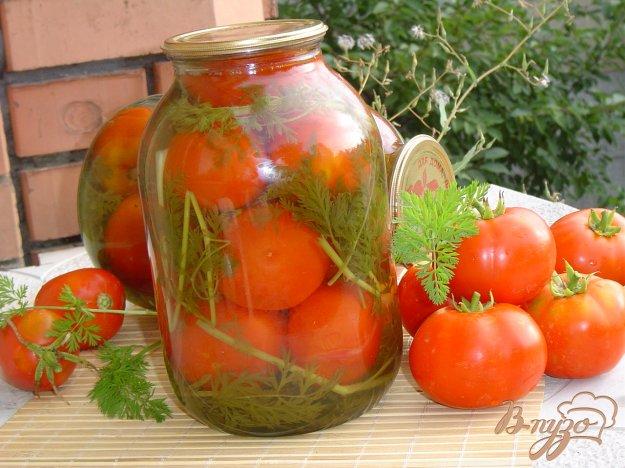 фото рецепта: Помидоры с листьями моркови