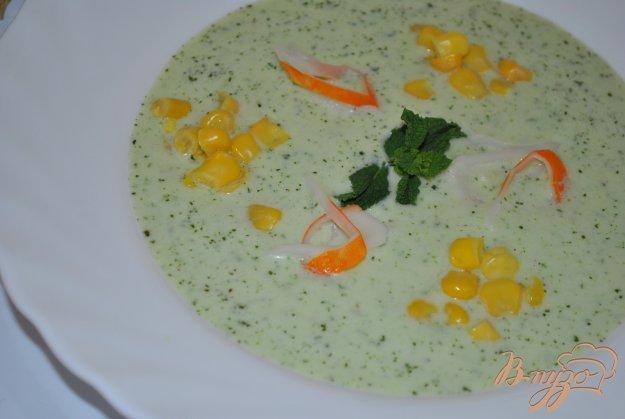 фото рецепта: Огуречный суп с мятой