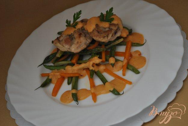 фото рецепта: Курица с овощами и сальсой