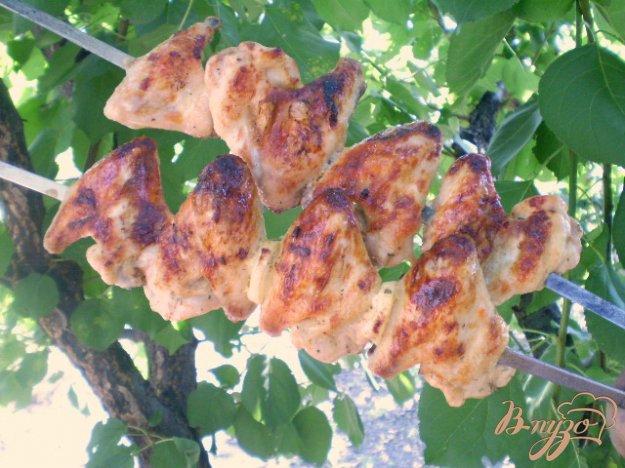 фото рецепта: Крылышки в кефире с сельдереем