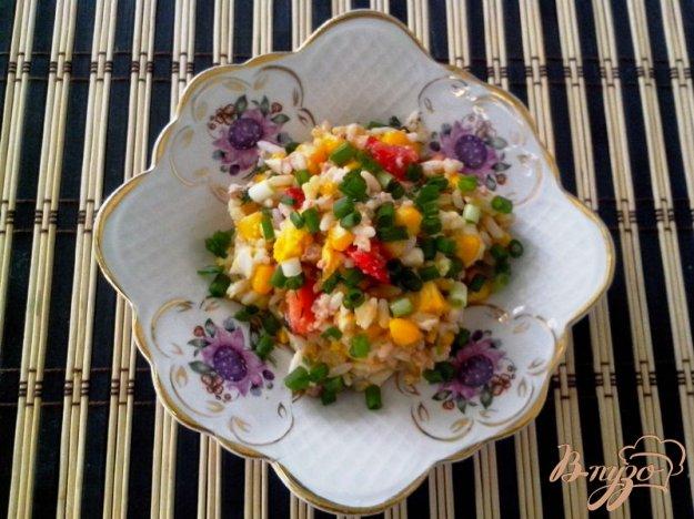 фото рецепта: Салат с печенью трески