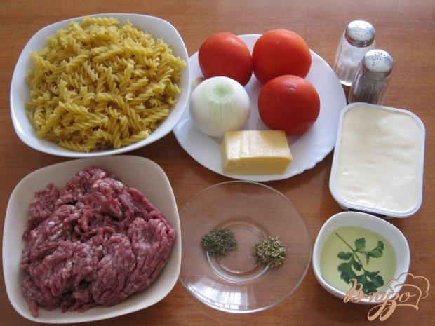 Рецепт Паста с соусом и фрикадельками