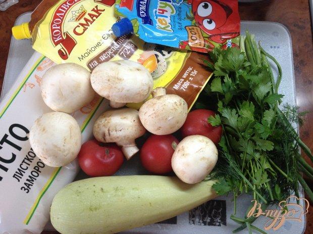Рецепт Овощная пицца с грибами и сыром