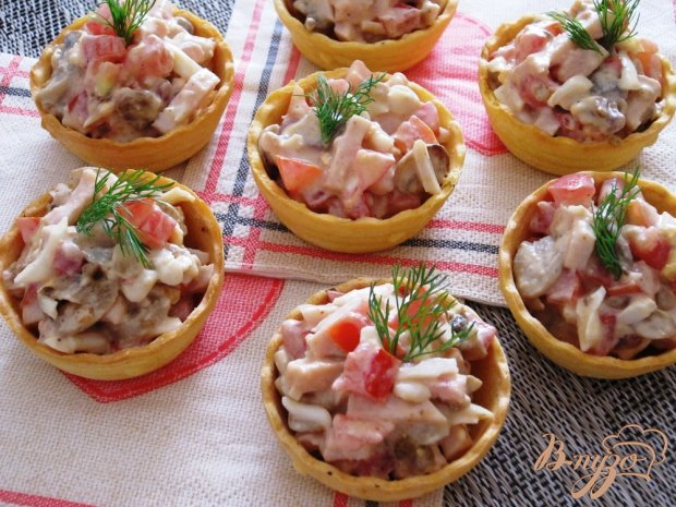 рецепты салат на тарталетки рецепты с фото