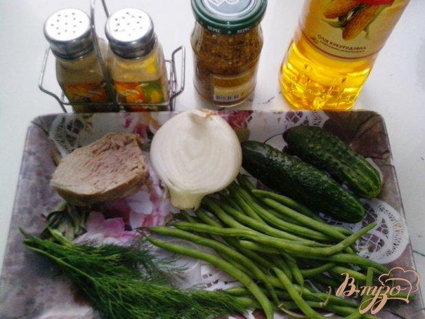 Рецепт Салат со стручковой фасолью и говядиной