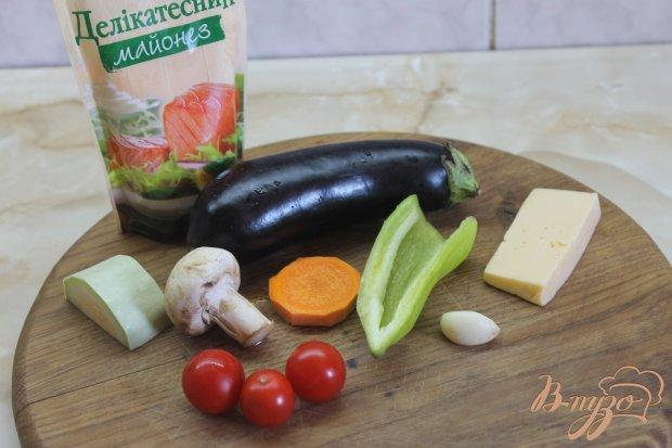 Рецепт Баклажанные лодочки с овощами запеченные под сыром
