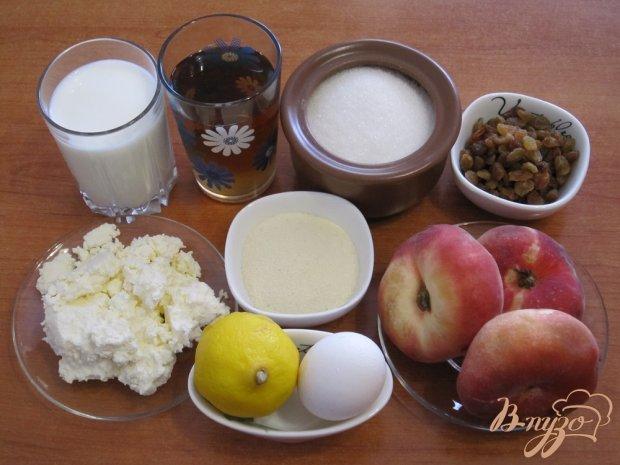 Рецепт Десерт из творожной пасты с персиками и изюмом