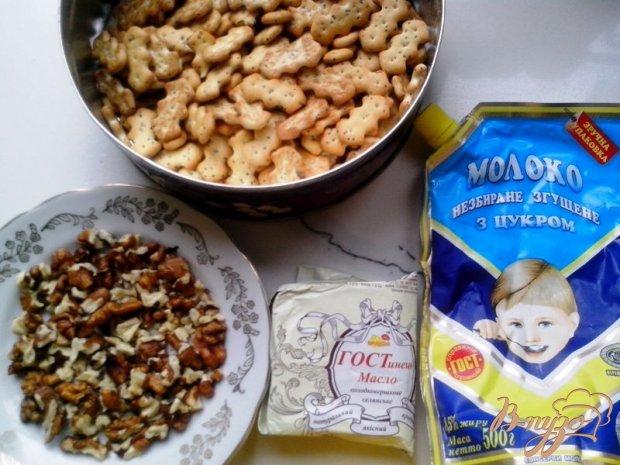 Рецепт Десерт из печенья «Крекер с маком» с ежевикой