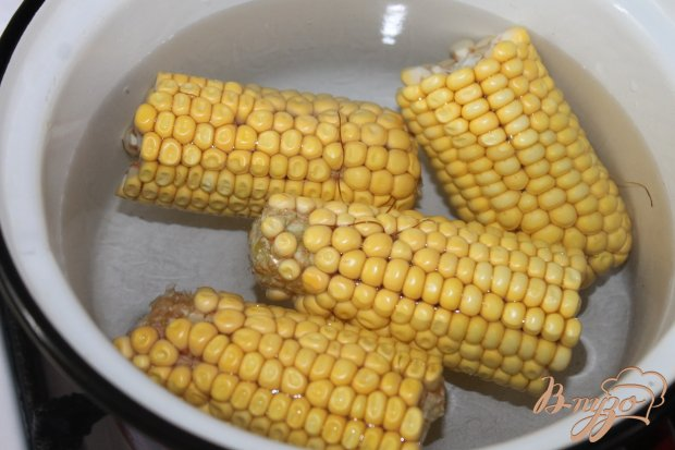 Рецепт Отварная кукуруза в лимонно - чесночном соусе