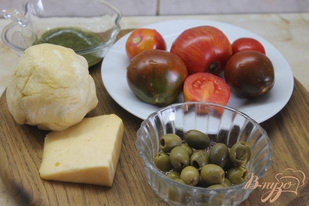 Рецепт Фокачча с помидорами и оливками